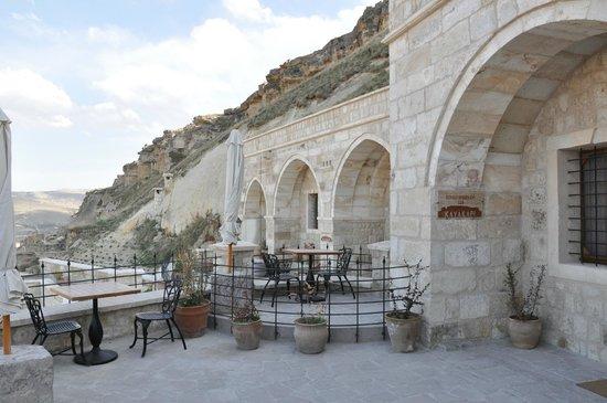 Kayakapi Premium Caves - Cappadocia: Our private terrace