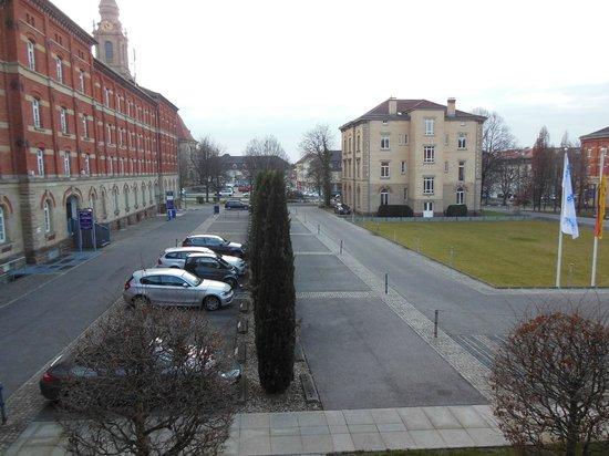Nestor Hotel Ludwigsburg: vista desde la habitación en el 2do piso