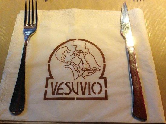 Pizza Vesuvio: Tovaglietta