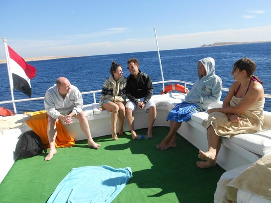 Oonas Dive Club Hotel: On the boat