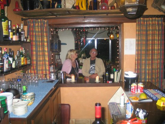 Salsalito: Sally and Ralph in their Honesty bar