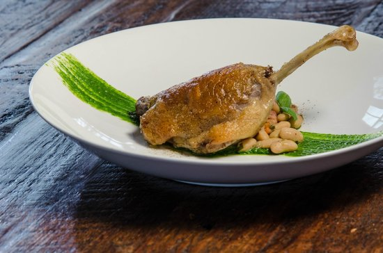 Foster Harris House: Duck Confit with white bean cassoulet
