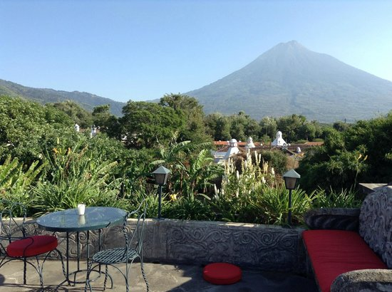 Meson Panza Verde: Veiw from roof terrace