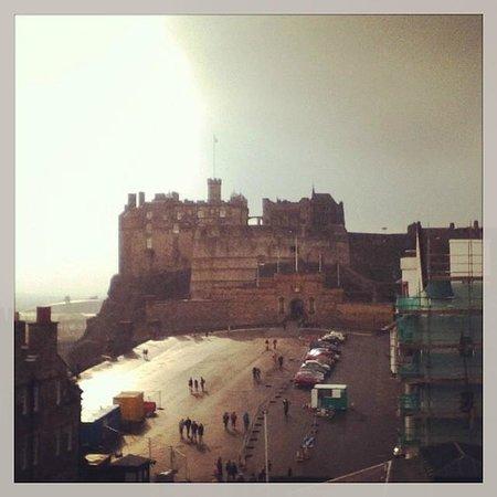 Edinburgh Castle: A view of the castle.