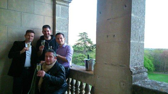 Chateau de la Bourdaisiere : rien de tel que du champagne pour l'occasion!