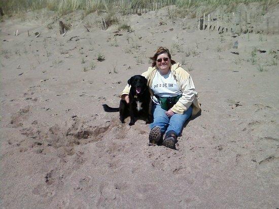 Pwllheli Beach: Our dog enjoyed  the beach