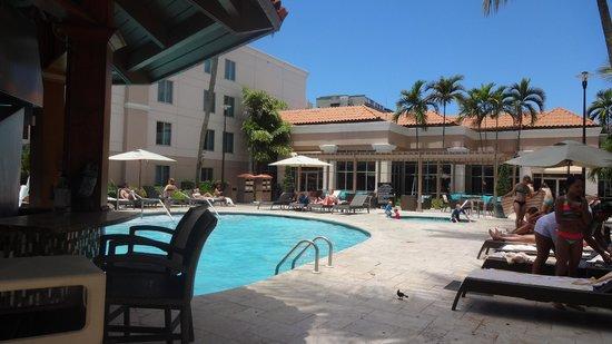 Hampton Inn & Suites San Juan: poolside