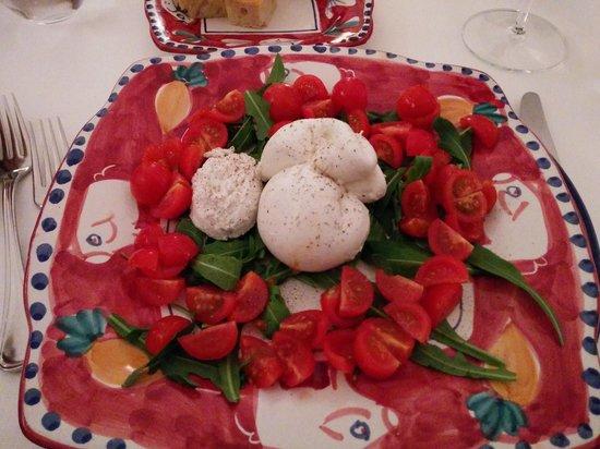 Donna Rosa il Ristorante: Burrata + cherry tomatoes