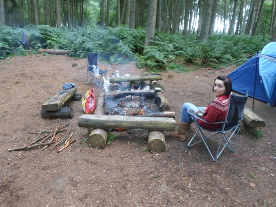Blinkbonny Wood: camp fire
