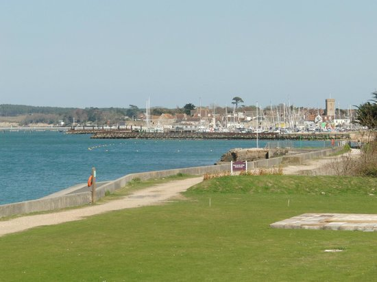 Warner Leisure Hotels Norton Grange Coastal Resort: View from bar terrace to Yarmouth (Isle of Wight)