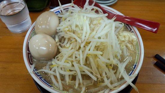 Tomudo : 登夢道中730円+味玉100円野菜大盛