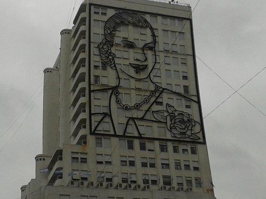 Avenida 9 De Julio : Evita desde la 9 de Julio