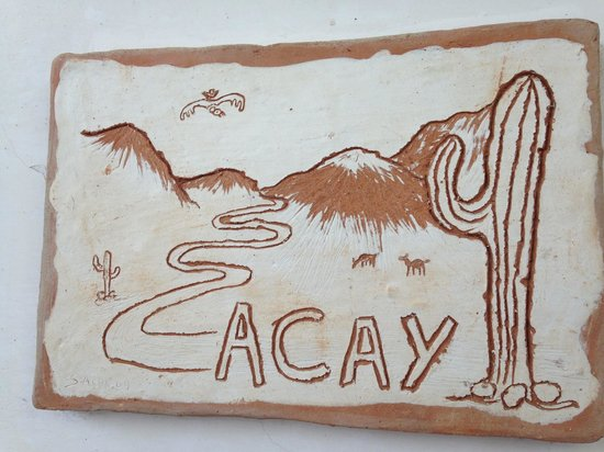 Hotel Killa Cafayate : Each room door has a ceramic sign named after a place
