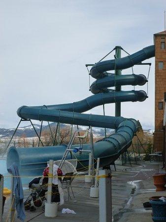 Fairmont Hot Springs Resort : The outdoor water slide.  No we didn't