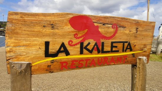 La Kaleta: Letrero del restaurante