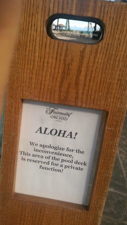Fairmont Orchid, Hawaii : Reserved public area