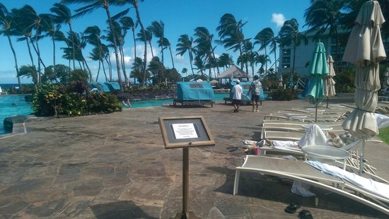 Fairmont Orchid, Hawaii : Soon to be closed area