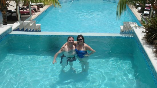 blu St Lucia : A couple of pasty white Canadians having a great time!