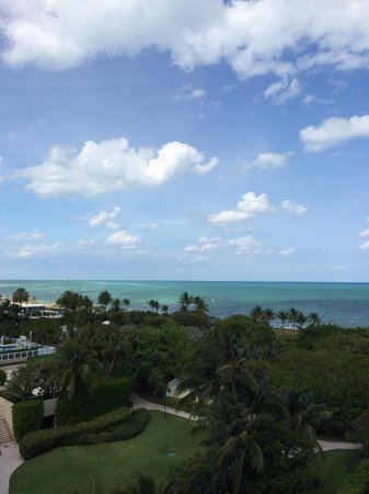 The Ritz-Carlton Key Biscayne, Miami : View from 5th floor.  Partial ocean view room.