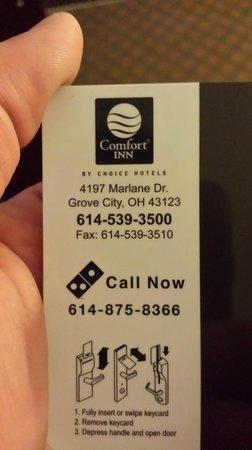Comfort Inn : My key