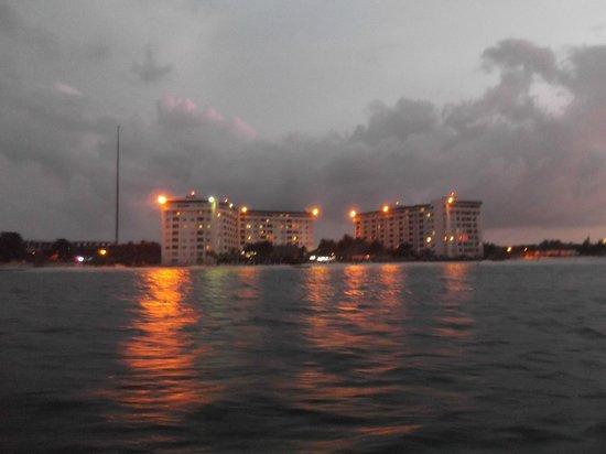 Casa Maya Cancun : Casa Maya from the pirate ship