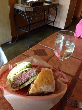 Dagotto's Panini Bistro : Dagotto's new bison burger panini on ciabatta! This one is unbelievably good!