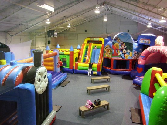 Bounce! Fun Center: Back of Bounce Room