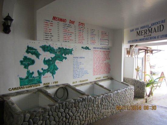 Mermaid Resort : rinse tanks at Mermaid Dive Shop