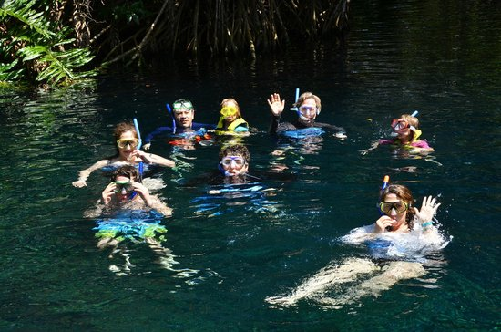 Hacienda Tres Rios: snorkeling the cenote river