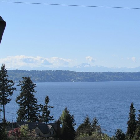 Olympic View Bed and Breakfast Cottage: Amazing view from the deck