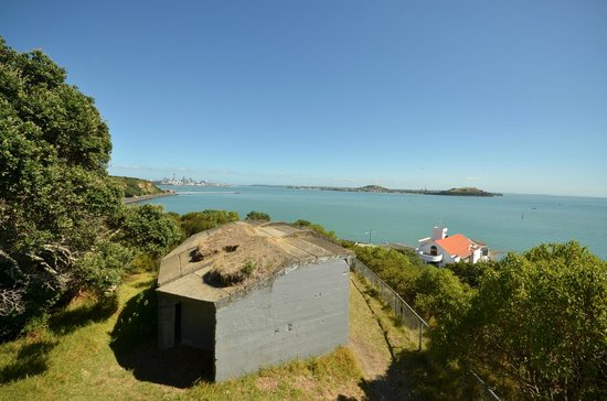 MJ Savage Memorial Park : Looking at Auckland from hidden Gun Battery Housing