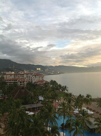 Sheraton Buganvilias Resort & Convention Center: View toward town from a room in the tower