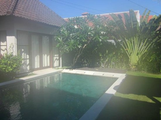 Katala Villas: The pool from the kitchen / eating area