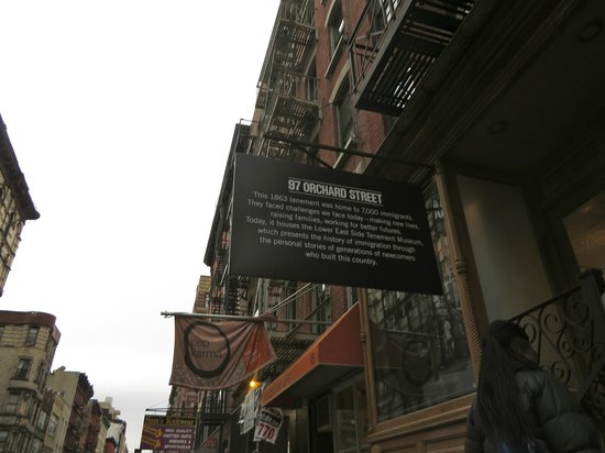 Tenement Museum: the front of 97 Orchard