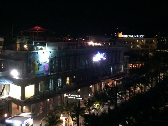 Millennium Resort Patong Phuket: Foam party on top floor of adjacent building