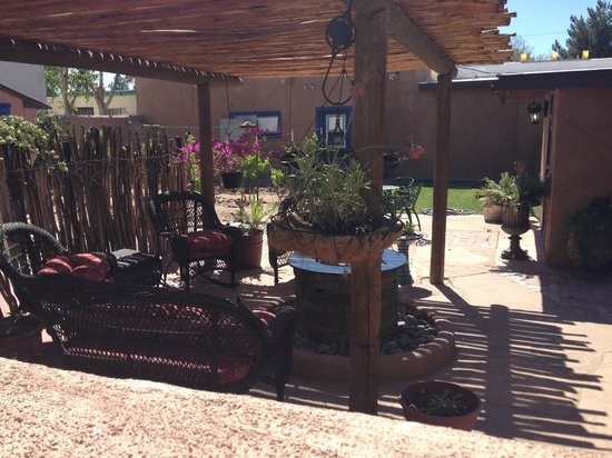 Josefina's Old Gate: Outdoor patio with fire feature