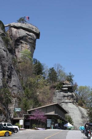 Chimney Rock State Park : View from the parking lot