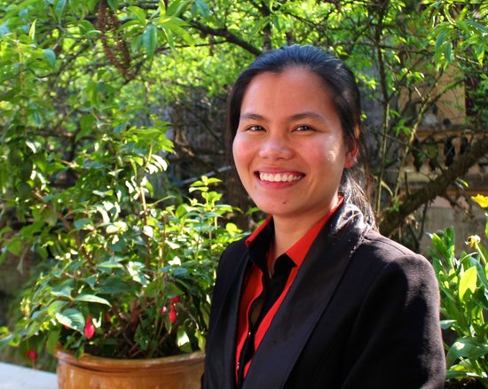 Cha Pa Garden Boutique Hotel & Spa : Huang, receptionist at Cha Pa Gardens