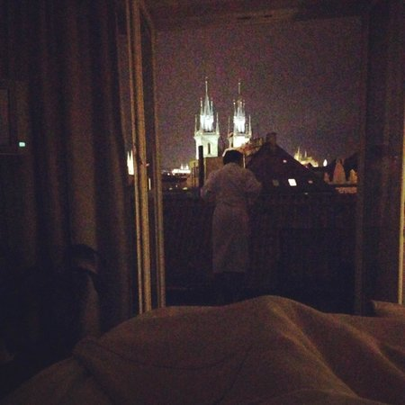 Grand Hotel Bohemia : View from the bed at night