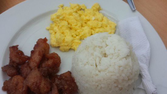 Bluelilly Hotel: Breakfast menu, doesn't look appetising but it was delicious! :))