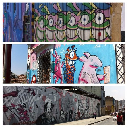 Bogota Graffiti Tour: Mixture of street art seen on tour