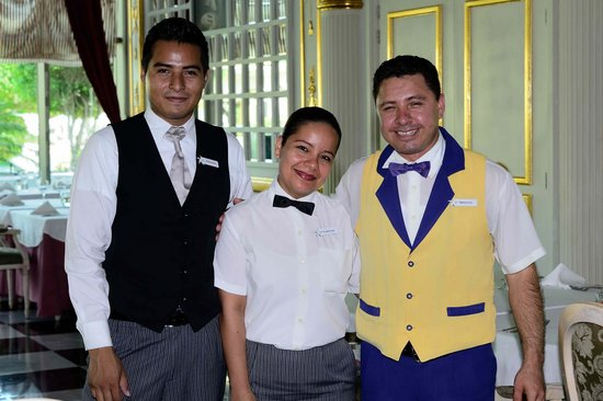 Iberostar Grand Hotel Paraiso: Darwin, Leticia and Marco at l'Atelier restaurant