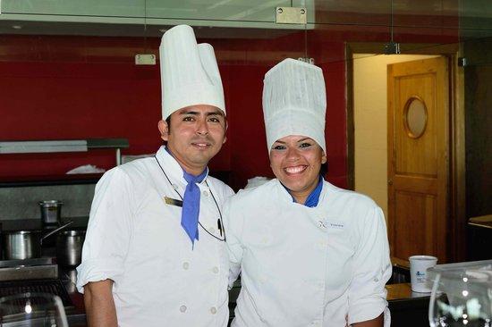 Iberostar Grand Hotel Paraiso: Domingo and Vianey at the Haiku restaurant