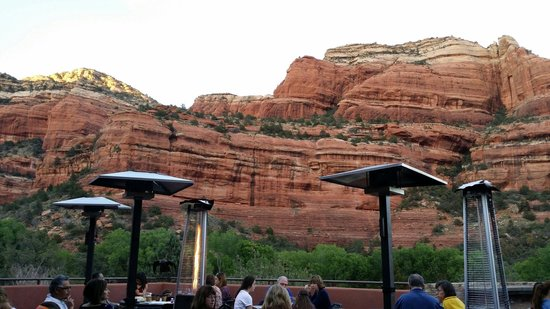 Che-Ah-Chi Restaurant at Enchantment Resort : View from outdoor patio.