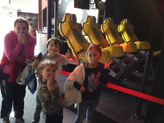 Dark Ride: One of the rides ... Kids happy after the experience