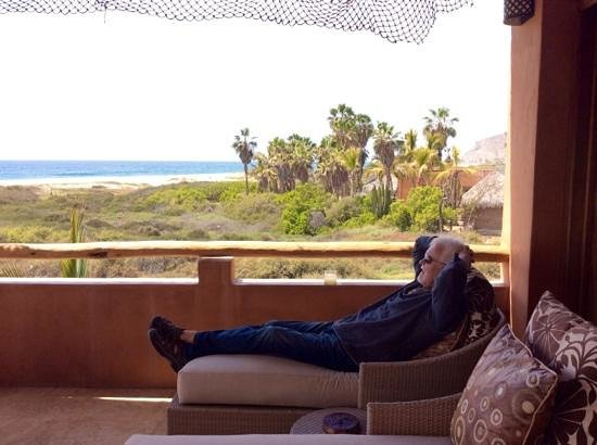 Rancho Pescadero: relaxing on our patio