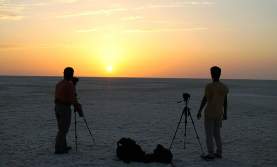White Desert: The sunset at White Rann