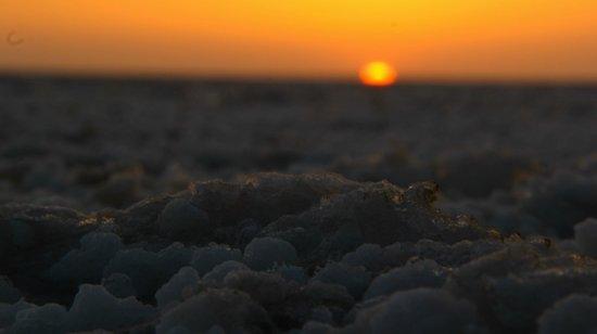 White Desert: view through the salt