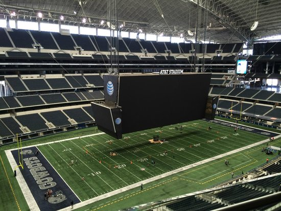 Jumbotron Lowered For Maintenance Picture Of AT T Stadium Arlington