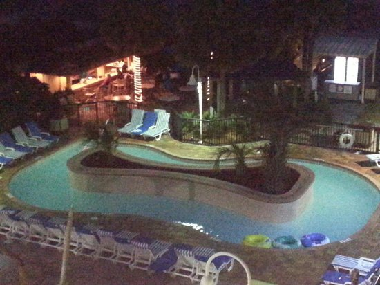 Sea Crest Oceanfront Resort : Night view of the Tiki Bar & Heated Lazy River~